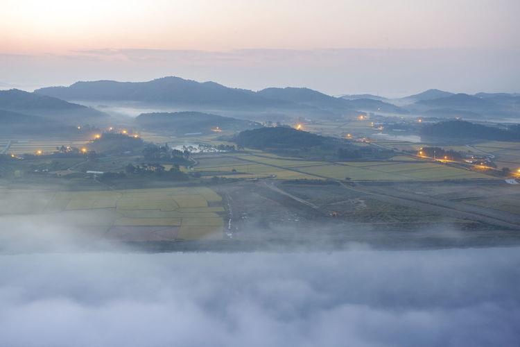Island on the sky Morning Cloud - Sky Fog Island Landscape Mountain Nature No People Non-urban Scene Scenics - Nature Tranquility