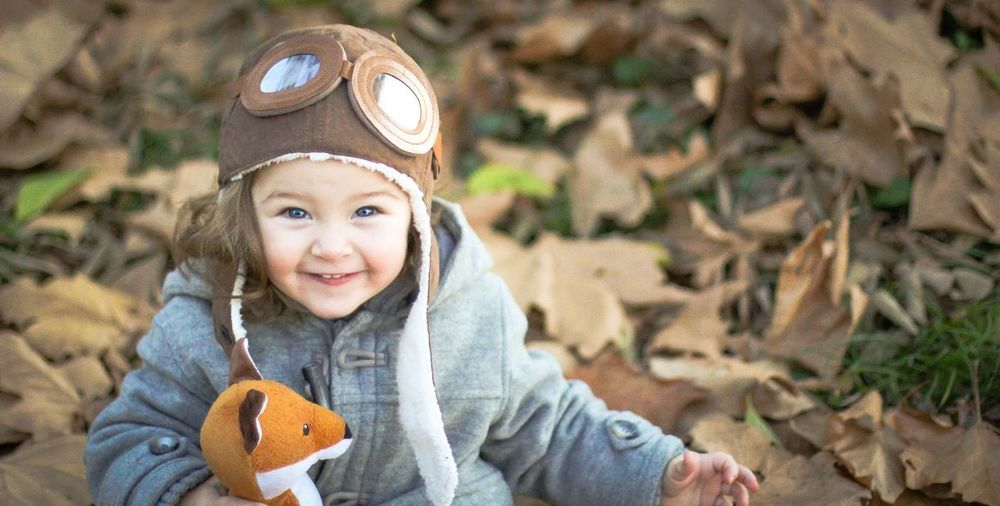autumn fun EyeEmNewHere Warm Clothing Portrait Child Childhood Smiling Looking At Camera Headshot Happiness Cold Temperature Front View Innocence Baby Clothing One Baby Girl Only 0-11 Months Baby Baby Girls Babyhood