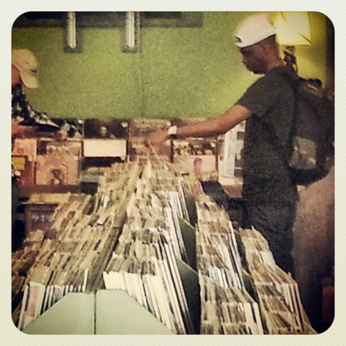 Record shopping with @rashadmusic. Ohio Ohiofunk Diggers! Elev8thegame