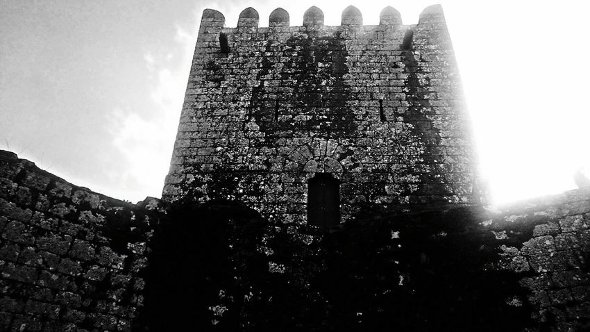 Monochrome Photography Montalegre castle, Portugal Castle Medieval Castle Architecture Stone Ancient Ruins Kings Low Angle View History Fort No People Built Structure Eyeemphoto Light Black And Withe Magic Place Montalegre Portugal Film The Week On Eyem