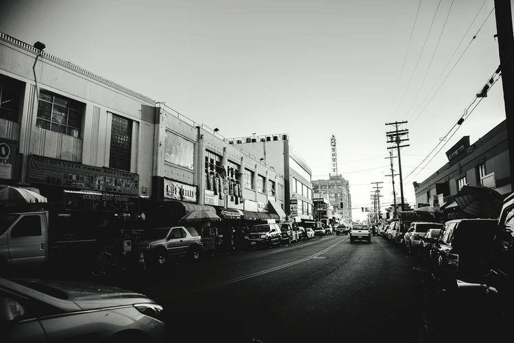 DTLA Los Ángeles City Car No People Outdoors Day Losangeles Dtla Art District Street Photography Los Angeles, California Black & White LA Photographer Travel Backgrounds Streat