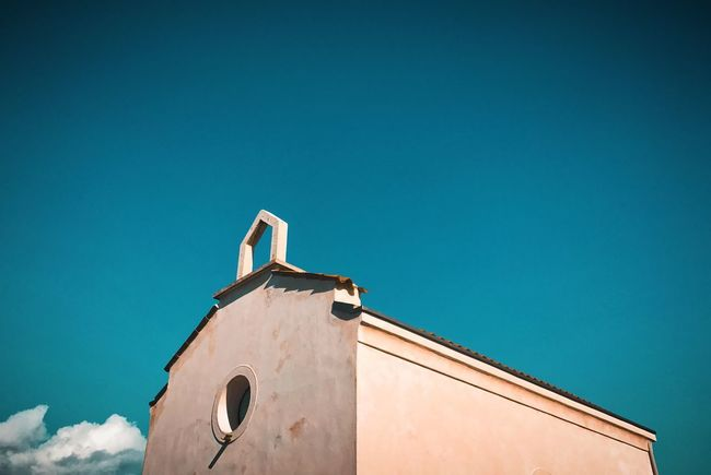 Church Church Built Structure Building Exterior Architecture Low Angle View Clear Sky No People Religion Outdoors Place Of Worship Sky Bell Tower