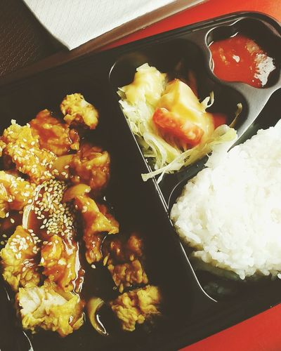 My meal box EAT WELL , hungry Before The time Have A Lot Of Fun  Taking Photos Relaxing