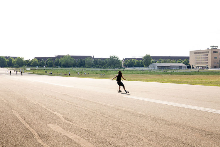 City City Life Hip Leisure Activity Lifestyles Outdoors Park Rastaman Skateboarding Street Tempelhofer Feld