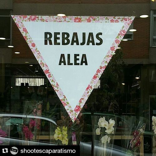 Ya están aquí. ... Rebajas de las de verdad!!!! Repost @shootescaparatismo ・・・ Así las vemos este 2015. Escaparate para @aleafloristerias Escaparate Window Windowdisplay Windowdresser WindowDressing London Uk Milan Paris Vitrina Vitrine Vigo SPAIN Lovemyjob
