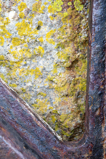 Corrosion Industrial Iron Rust Close-up Cog Day Gear Gear Teeth Historic Lychen No People Outdoors Stone Used Yellow