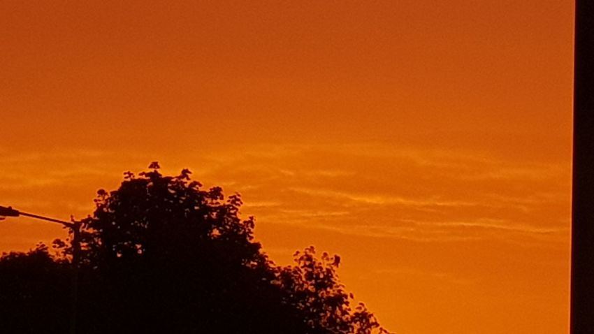 Sunset Orange Color No People Nature Samsung Galaxy S 8 Beauty In Nature