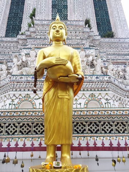Religion Statue Spirituality Sculpture Male Likeness Human Representation Golden Color Idol Gold Colored Buddha Watarun No People Day Outdoors