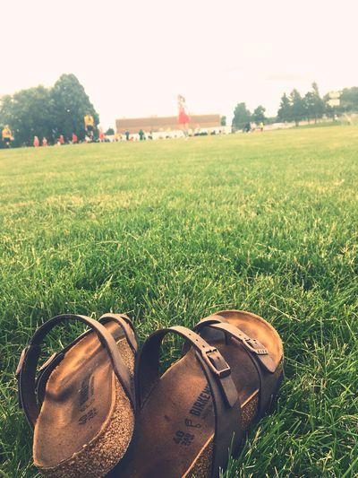 EyeEm Selects Birkenstock Soccer Field Players Game Day Won Shoe Outdoors Daylight Sun Ball Grass People Goal Fun Park High School