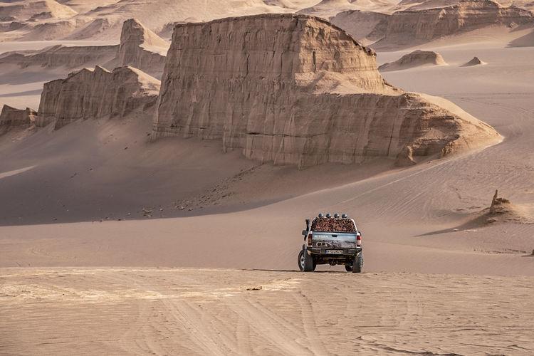 Lifeguard hut on desert