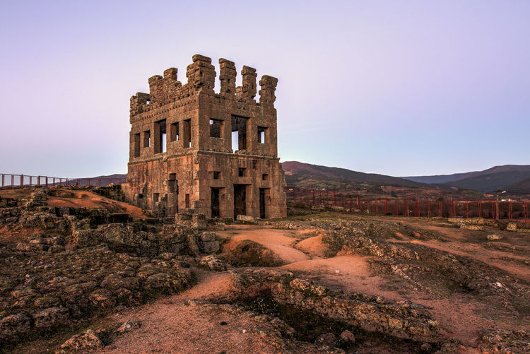 Could be from lord of the rings? Ancient Belmonte Medieval Portugal Roman Ruins Tower