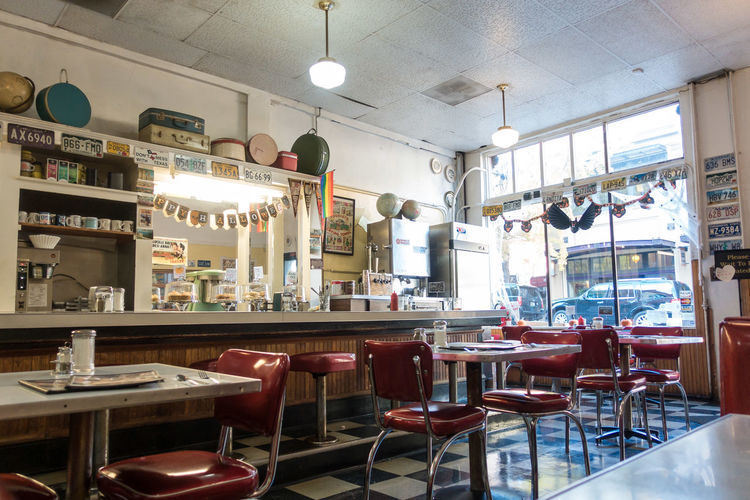 Architecture Bookshelf Cafe Chair Day Diner Home Showcase Interior Indoors  No People Restaurant Table