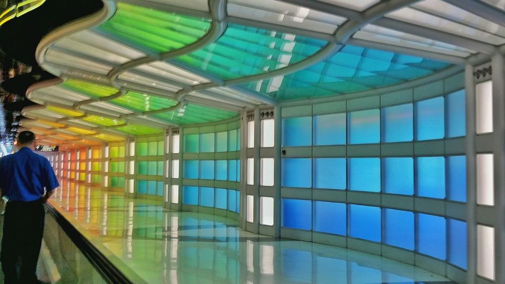 """Life is like an endless corridor no matter what your favourite color, you will see all the colors of the rainbow"" Color Airportphotography A Moment In Time Colorful Color Photography Street Photography Rainbow Popular Photos Check This Out Hello World"