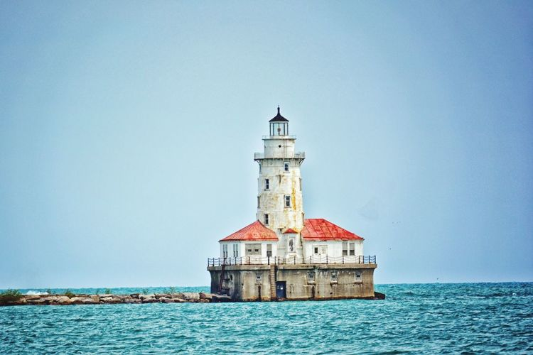 Lighthouse, Great Lakes, no people, Chicago Illinois Water Sky Daytime No People Lakeshoreview Outdoors