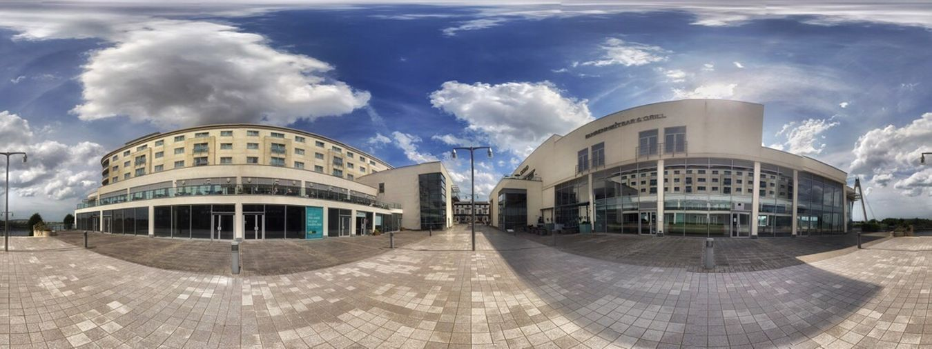 Architecture Building Exterior Cloud - Sky Built Structure Sky Modern Day Outdoors City No People JoMo Photo Liverpool IPhoneography Panorama Panoramic