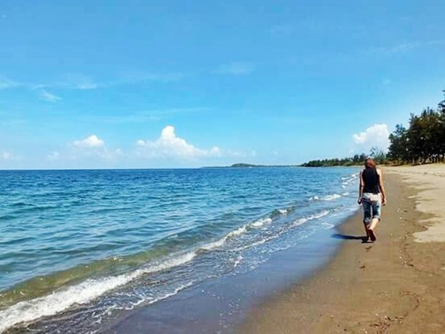 The Essence Of Summer Beach Sand & Sky Beach Scenery Seaside Walking On The Beach Walking By The Sea Summer Feels