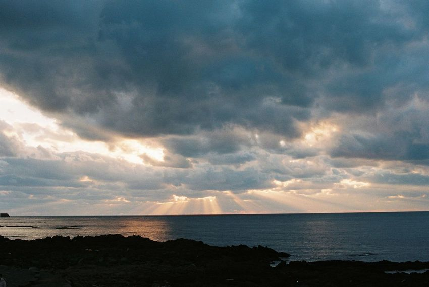 Film Beach Beauty In Nature Cloud - Sky Day Film Photography Horizon Over Water Nature No People Outdoors Scenics Sea Sky Sunset Tranquil Scene Tranquility Water An Eye For Travel