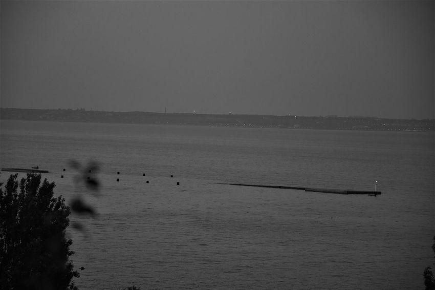 B&w Blackandwhite Fog Nature No People Outdoors Sea Sea And Sky Sea At Night Water