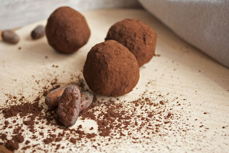 Dessert Energy Bites Healthy Snack Brown Chocolate Chocolate Balls Close-up Coco Cocoa Cocoa Powder Easy Snack Energy Balls Food And Drink Healthy Healthy Eating Healthy Snacks One Bite Snack Selective Focus Vegan Snack