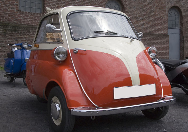 BMW Isetta - Vintage German Tricar Bmw BMW Isetta Car Classic Car Collector's Car Compact Car Front View German Germany Isetta Isetta BMW Land Vehicle No People Nostalgia Old Oldtimer Outdoors Retro Small Stationary Subcompact Car Transportation Tricar Vintage Vintage Cars