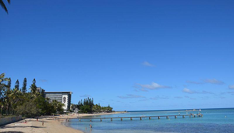 Pontoon Sea And Sky Sand & Sea Beachphotography Beach View Blue Sky Blue Sea Blue Noumea New Caledonia Newcaledonia