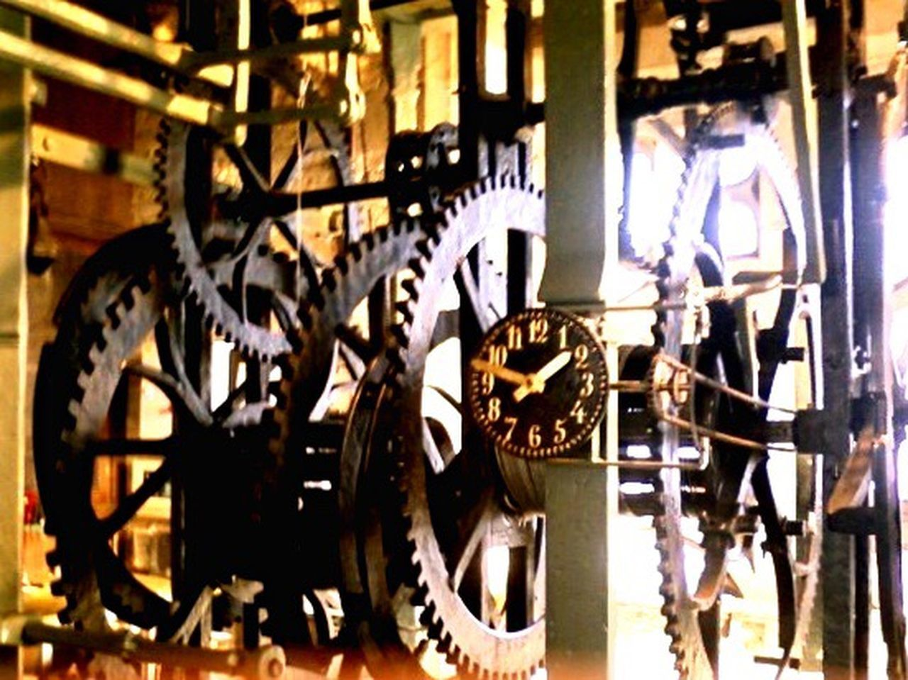 metal, machine part, gear, no people, indoors, industry, close-up, technology, day, clock