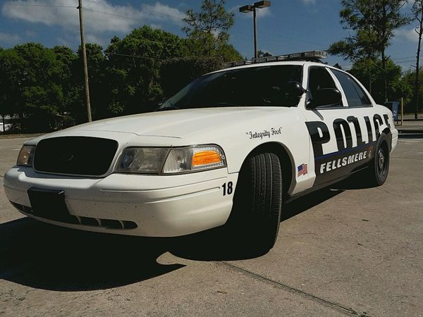 Fellsmere's Finest  Crown Vic Police Interceptor Ford Protect And Serve  Thanks For All That You Do Thin Blue Line Cops Fellsmere Florida