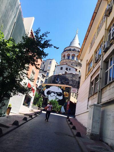 Galatatower Istanbul Beyoğlu Kule Tumblr Duvar City Day PANDA ♡♡ Panda