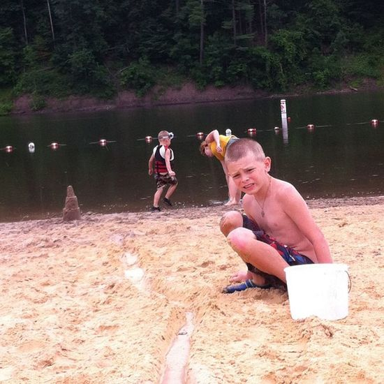 We went up to little pine creek today. LittleBrothers Weird Sand Coldwater
