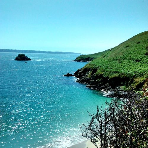Sea Horizon Over Water Blue Scenics Sky Beach Clear Sky Beauty In Nature Tranquility Day Nature Landscape Water Island Guernsey Channel Islands Uk Summer Relax Memories Travel Outdoors No People Tree Tranquil Scene