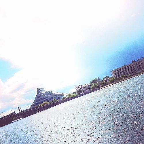 Pastaigajos Walking 11novembrakrastmala Skyes Blue Sky