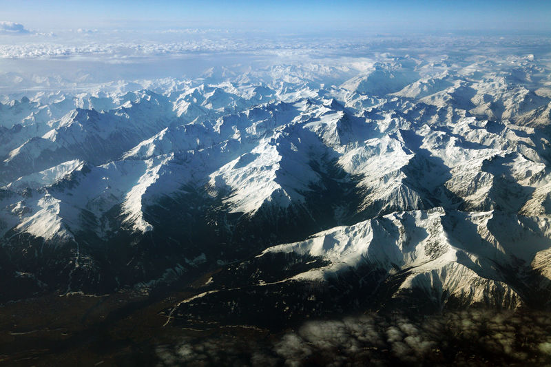 Above Aerial Aerial View Alpine Alps Austria Flight Landscape Mountain Plane Sky Switzerland Transportation Travel