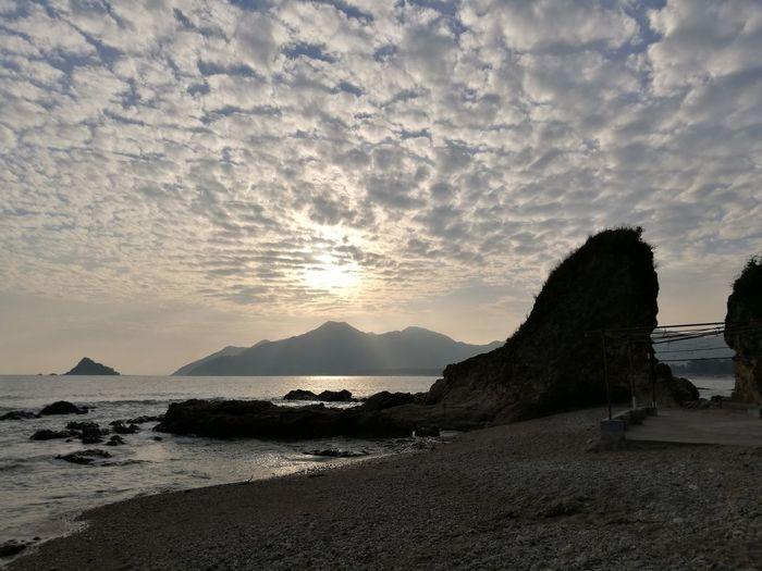 Water Mountain Sea Sunset Beach Sand Summer Sunlight Sun Sky