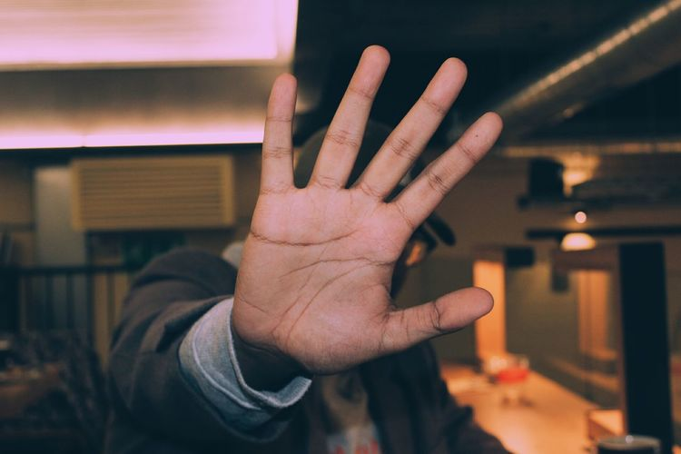 Coffee ☕ Human Hand Human Body Part Stop Gesture Human Finger Gesturing People Adult One Person Adults Only Reaching Indoors  Palm Close-up One Man Only Night Only Men Love Timberyard London Cocktail Party - Social Event No People Meal EyeEm Diversity