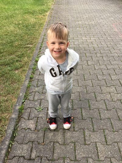 Looking At Camera One Boy Only Outdoors Blond Hair Happiness My Life My Son :) Liebe ❤
