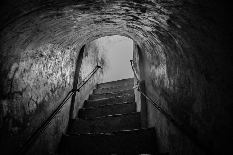 Staircase in old tunnel