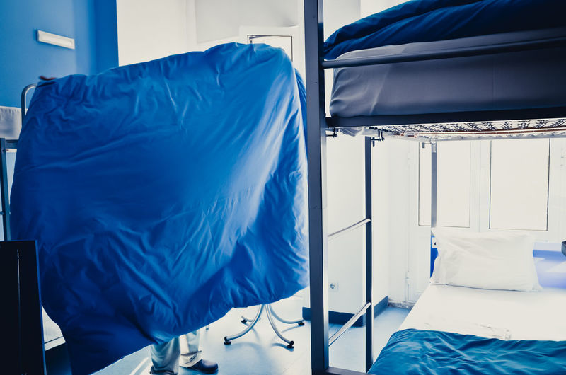 Blue Cleaning Home Interior Hostel Indoors  Occupation Room Working I Love Color Blue Wave I Got You Covered