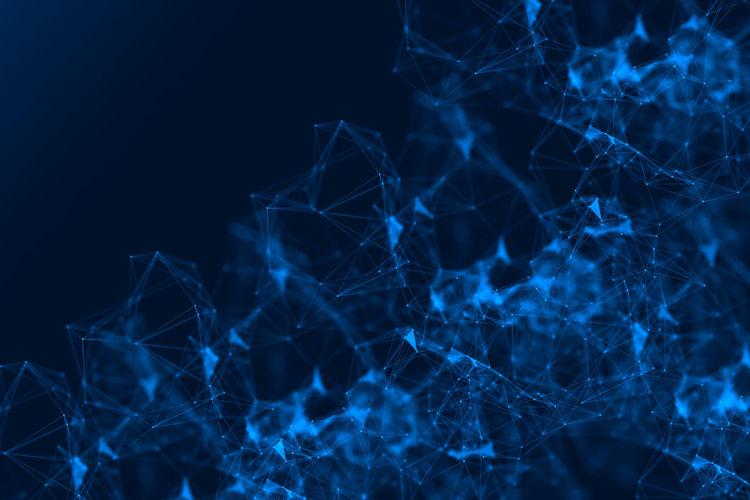 Close-up of digital pattern over blue background