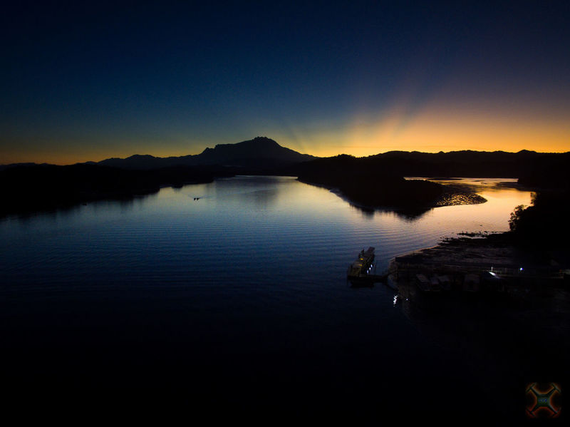 Sunrise view of Mount Kinabalu from Mengkabong Bridge, Sabah, Malaysia. Beauty In Nature Clear Sky Dusk Lake Mengkabong River Mount Kinabalu Mountain Nature Night No People Outdoors Reflection Scenics Silhouette Sky Sunrise And Clouds Sunrise Silhouette Sunset Tranquil Scene Tranquility Tuaran Water