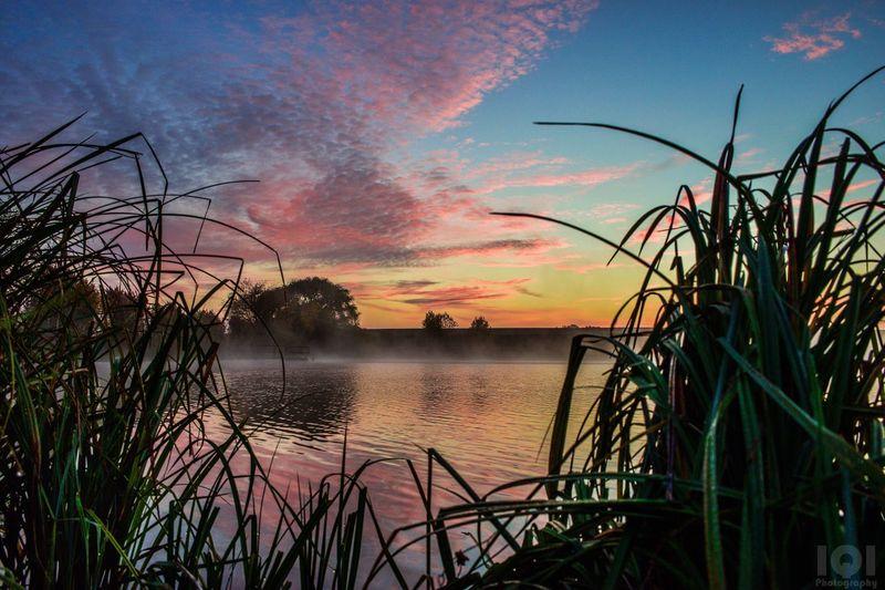 Sunrise Lake Foggy Foggy Morning