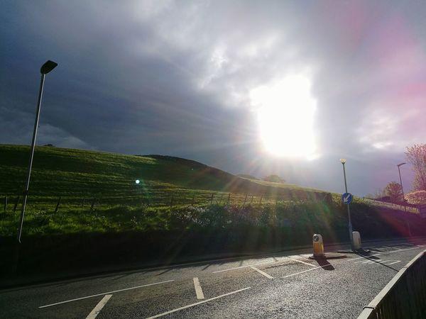 Sunlight Cloud - Sky Sky No People Outdoors Day Beauty In Nature Window Light ;)) Heven's Door ;) Street Filed Hill Lamp Pedestrian Walkway Cumbria HuaweiP9 Neighborhood Map BYOPaper!