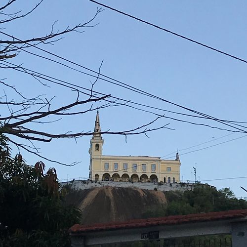 Igreja da Penha Sky Built Structure Building Exterior Architecture Tree Low Angle View Nature Clear Sky History Day