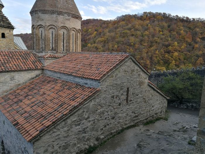 Ananuri Church Architecture Automn Building Exterior Built Structure Day Leaves No People Outdoors Roof Sky Tree