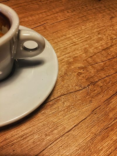 Coffee Coffee Time Coffee Break Cup Hot Drink Drink Wood Wood - Material Brown Esspresso Table High Angle View Indoors  Close-up No People Freshness Day EyeEmNewHere