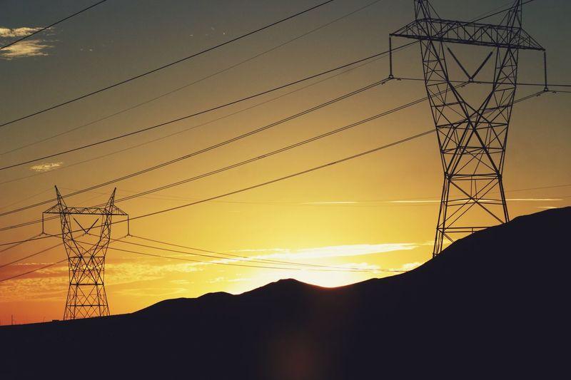 California Sunset Roadtrip USA Sky