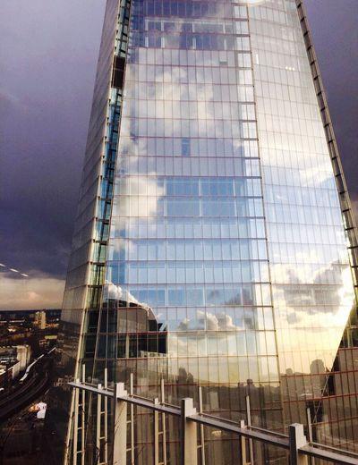 The Shard, London The Shard Reflection Reflection_collection Urban London Sky Clouds Reflections Sunlight