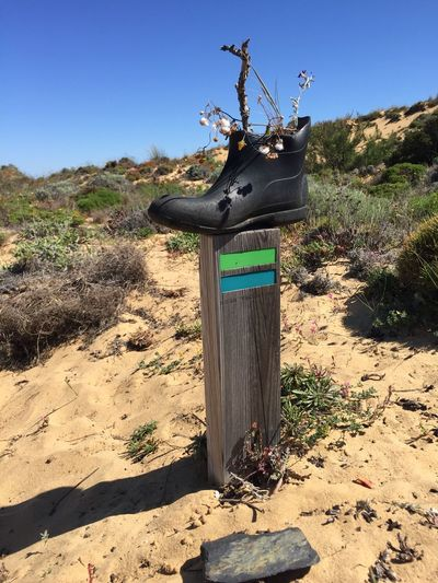 Boot Trilhodospescadores Portugal Hiking Nature Landscape Sky Land Outdoors Rural Scene Abandoned Shadow