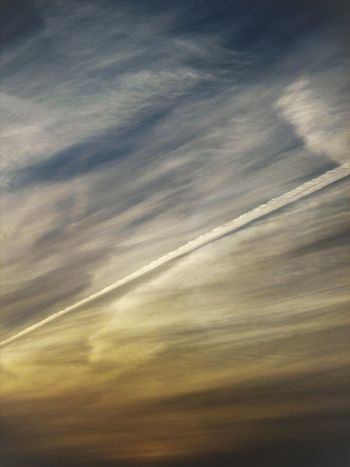 Beauty In Nature Cloud - Sky Day Dramatic Sky Nature No People Outdoors Scenics Sky Sunrise Vapour Trail Winter
