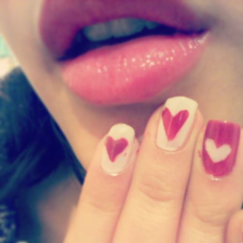 my lips and nails,wohooo interesting :D