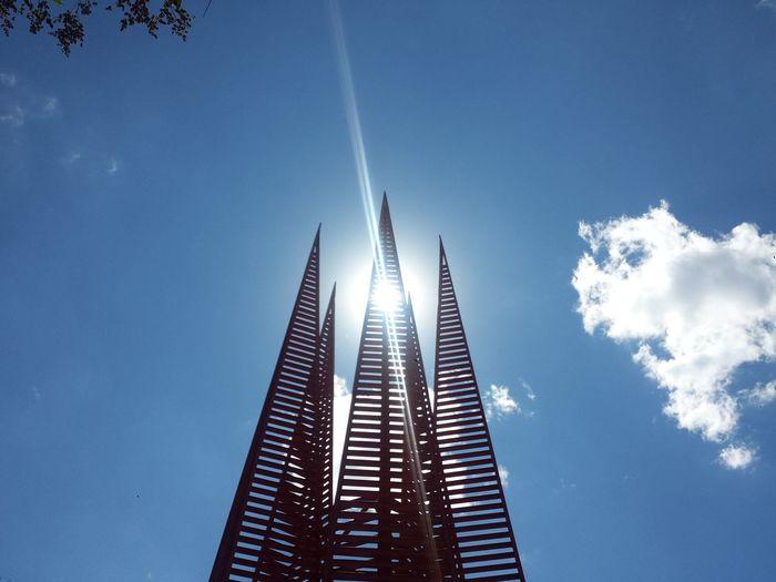 Architecture Cdmx Espacio Escultorico UNAM Espacio Escultórico Low Angle View Modern Skyscraper Sun Light Tall - High UNAM